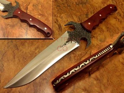 Hammered Carbon Steel Hunting Knife
