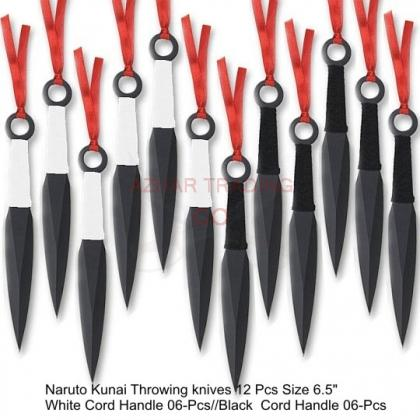 Naruto Kunai Throwing knives Set of 12 Pcs