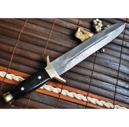 Handmade Damascus Hunting Mini Sword