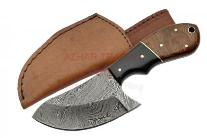 DAMASCUS CAT SKINNER KNIFE