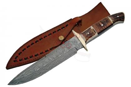 THE PLAINSMAN DAMASCUS BOWIE KNIFE