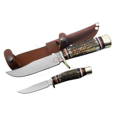 2-Pcs Hunting Knives Set Stag