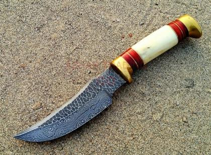 Hammered Forged Damascus Knife