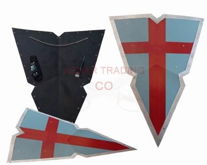 Viking Knights - Holy Crusader Kite Shield Steel Templar Heater
