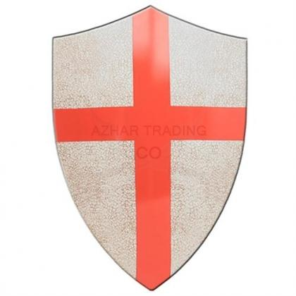 Medieval Crafted Templar Knights Red Cross Crusader Shield