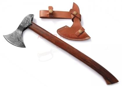 22 Inches Custom Handmade Damascus Steel Hunting Viking Tomahawk Axe