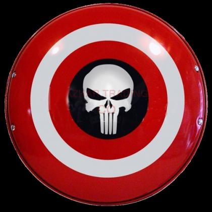 Captain America And Punisher Shield