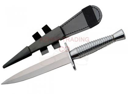 Silver British Commando Knife