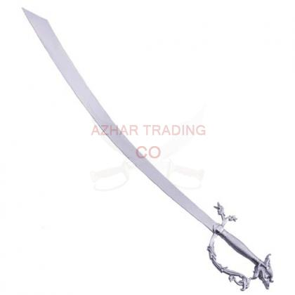 Belly Dance Dragon Scimitar Sword Silver Handle