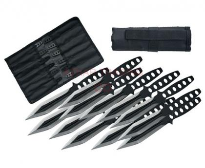 12-Pcs Streak Throwing Knives Set