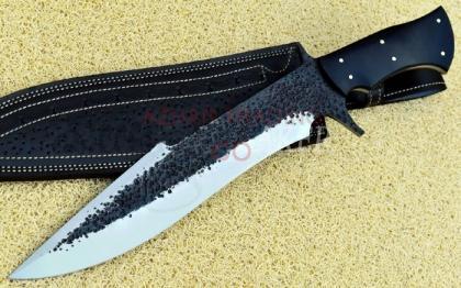 Hammered Forged Hunting Bowie Knife