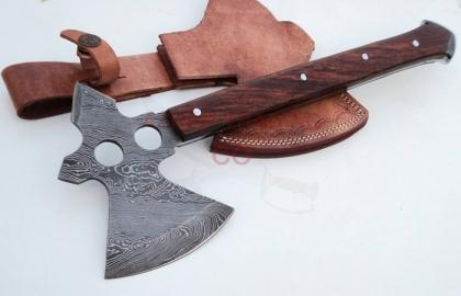 18 INCHES FULL TANG CUSTOM MADE DAMASCUS STEEL THROWING AXE