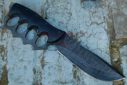 Sentry Knuckle Guard Damascus Knife.