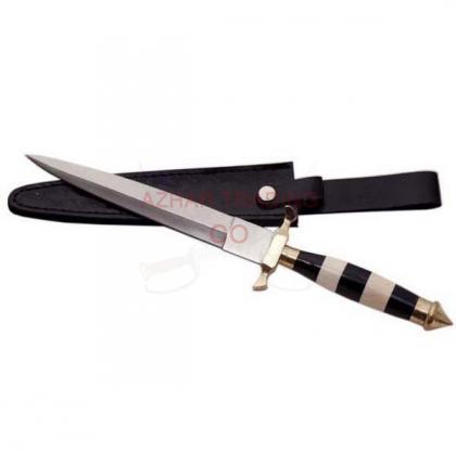 BLACK/WHITE COMMANDO KNIFE