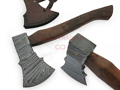 13 Inches DAMASCUS STEEL CUSTOM HAND MADE HUNTING TOMAHAWK AXE
