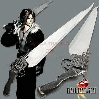 Final Fantasy-VIII Squall leonhart Gun Blade Sword