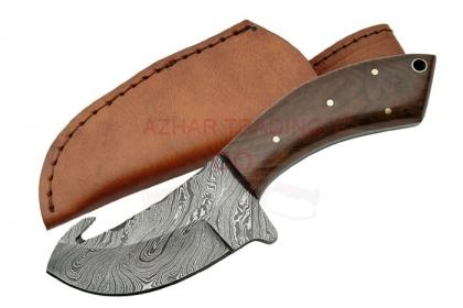 DAMASCUS GUTHOOK KNIFE