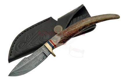 DAMASCUS STAG KNIFE