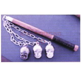 Medieval Tripple Skull Mace