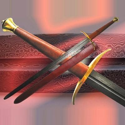 Long Damascus Warriors Battle Sword