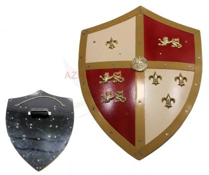 Medieval Royal Knight Crusader Shield Lion Bane
