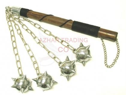 Quad Ball Medieval Spiked Mace 4 balls